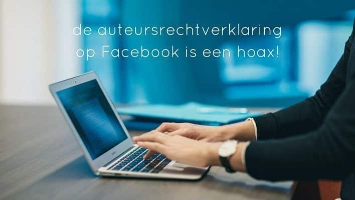 de auteursrechtverklaring op Facebook is een hoax!