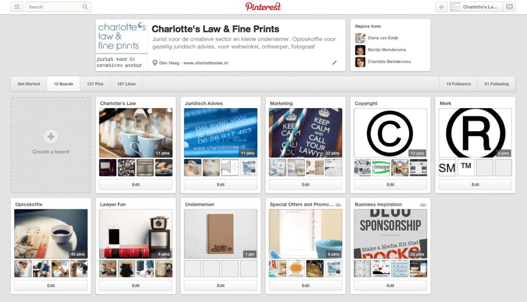 Pinterest is geen bron, maar een middel. Naamsvermelding of credits niet voldoende.