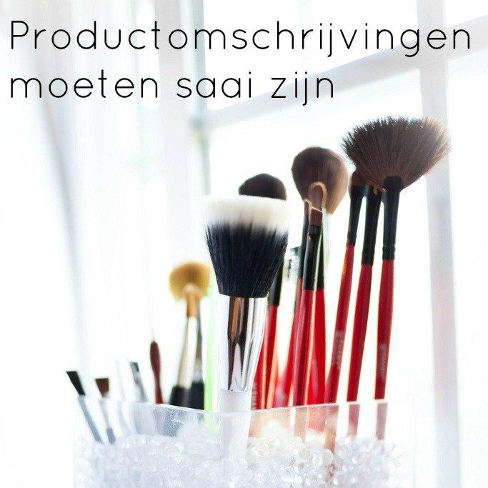 productfoto's en productomschrijvingen moeten saai zijn