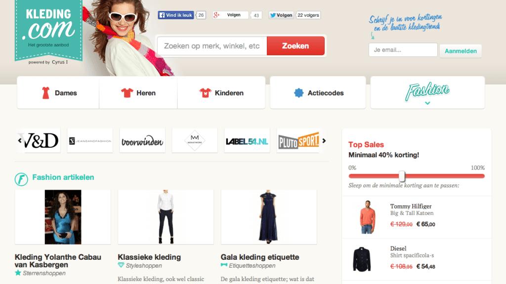Handelsnaam Kleding.com maakt inbreuk op Kleding.nl
