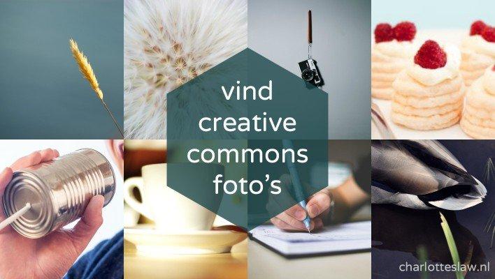 Bronnen voor Creative Commons foto's