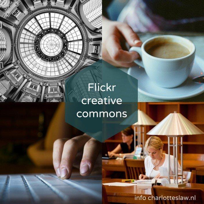 Vind creative commons beelden bij Flickr