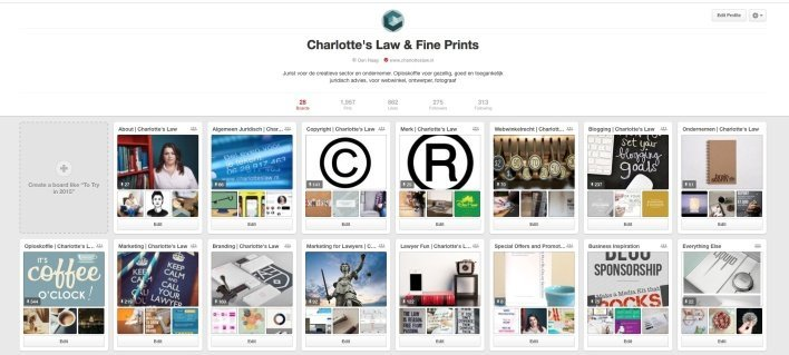 Auteursrecht en Pinterest Marketing