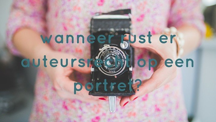 Is een fotoportret geen auteursrechtelijk werk?