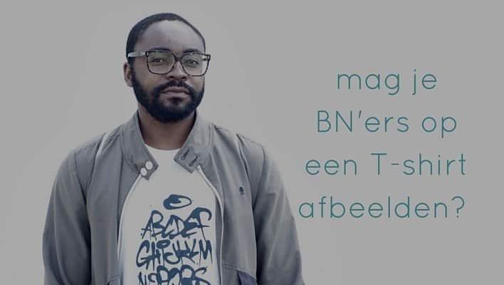 mag je BN'ers op een T-shirt afbeelden?