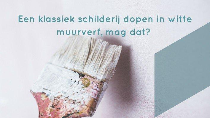 Auteursrecht - Een klassiek schilderij dopen in witte muurverf, mag dat?