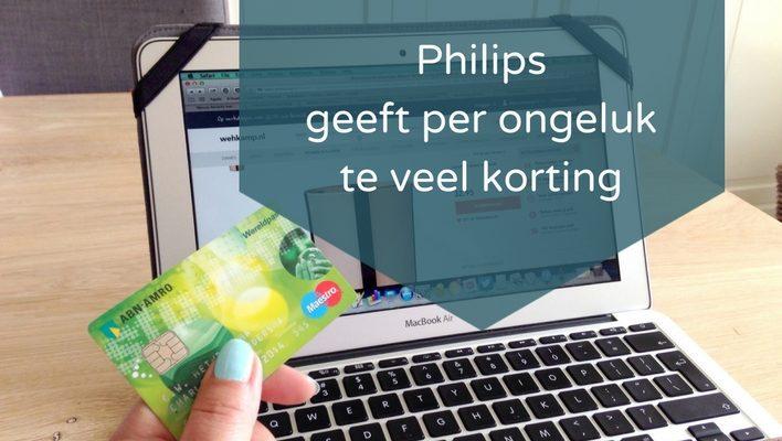 Webwinkelrecht: Philips gaf te veel korting