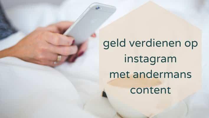 auteursrecht: geld verdienen op instagram met andermans content