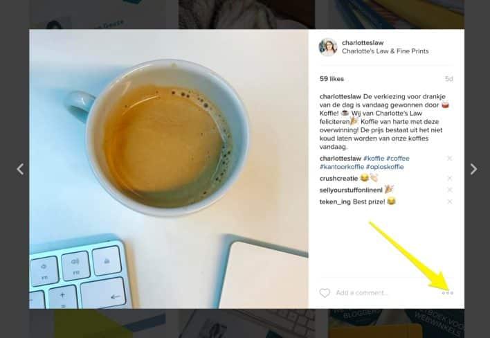 Instagram embed puntjes
