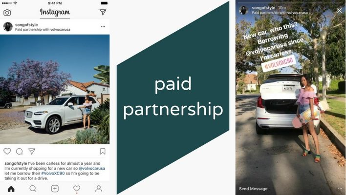 Instagram Reclame paid partnership