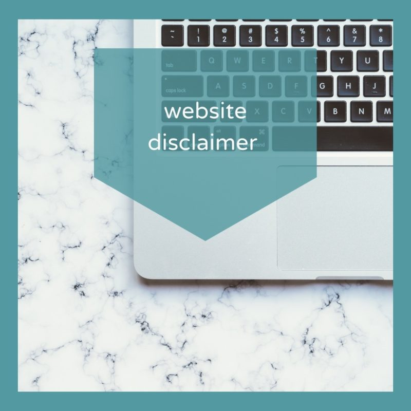 Website disclaimer
