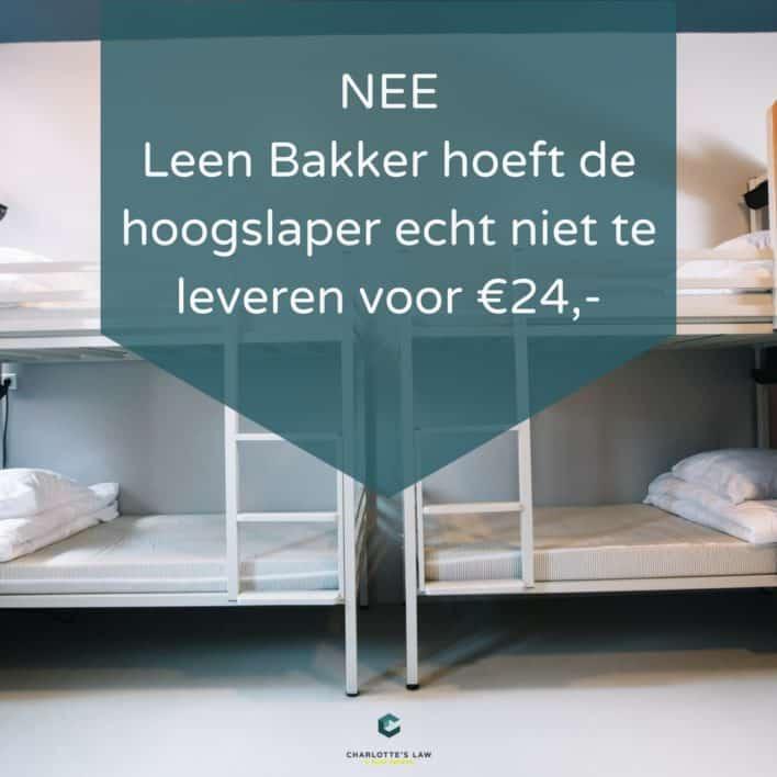 24 euro is geen normaal bedrag voor een peuterbed