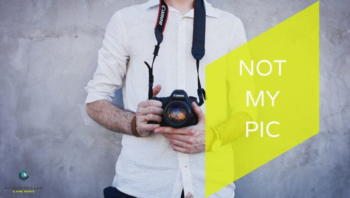 Instagram Auteursrecht NOT MY PIC