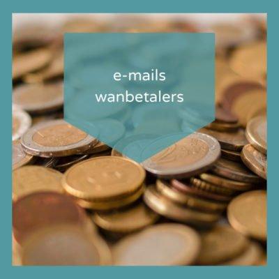 Wanbetalers aanmaning