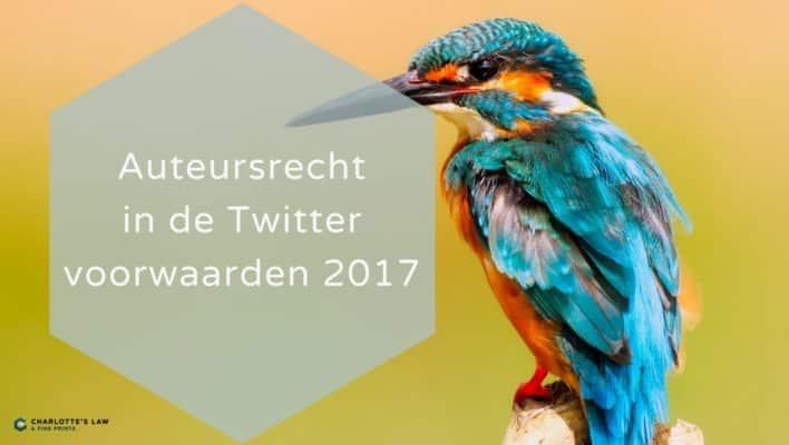Auteursrecht in de Twitter voorwaarden 2017