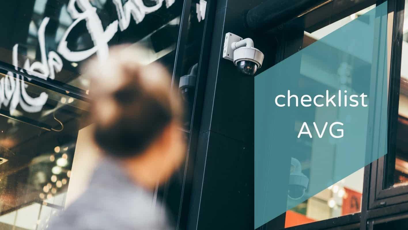 Checklist AVG/GDPR