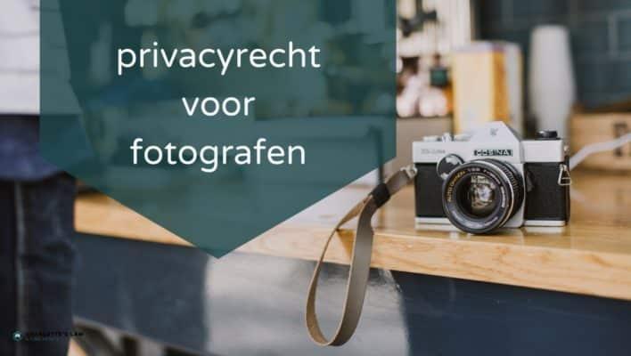 AVG GDPR privacy recht voor fotografen