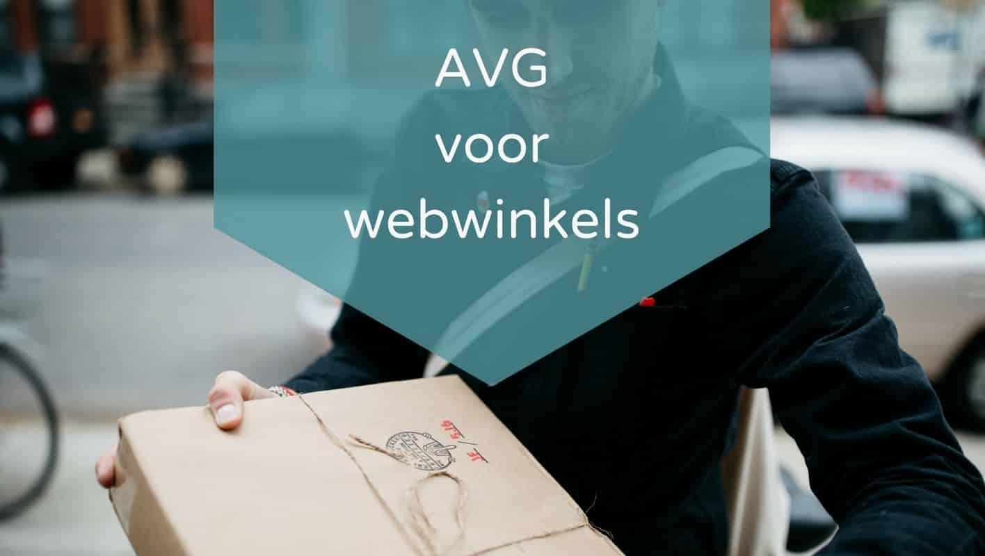 AVG GDPR voor webwinkels