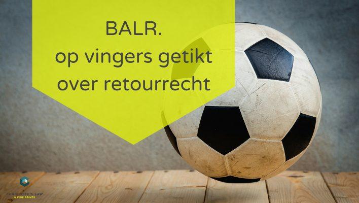 Webwinkelrecht: BALR. op vingers getiktover retourrecht