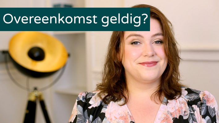 Wanneer is een contract rechtsgeldig?
