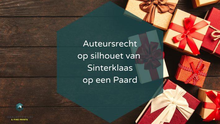 Auteursrecht op silhouet van Sinterklaas op een Paard