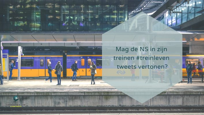 Auteursrecht: Mag de NS in zijn treinen treinleven tweets vertonen