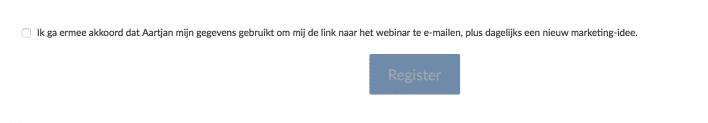 Toestemming webinar en maillijst