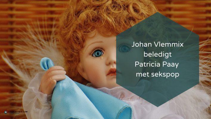 Mediarecht eer en goede naam Patricia Paay geschonden door Johan Vlemmix met sekspop