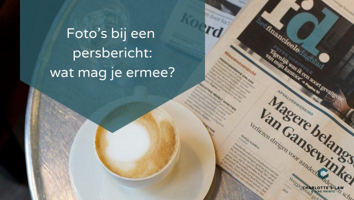 Auteursrecht: Wat mag je doen met foto's bij een persbericht
