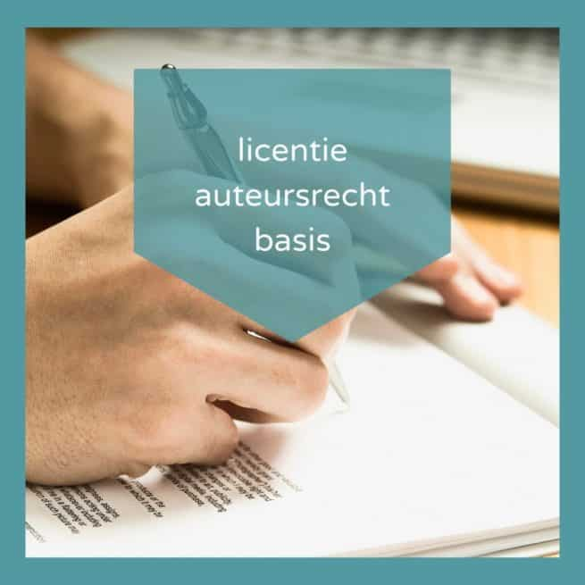 Licentie Overeenkomst Auteursrecht Basis