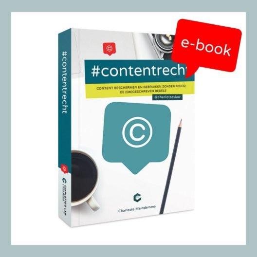 #Contentrecht e-book