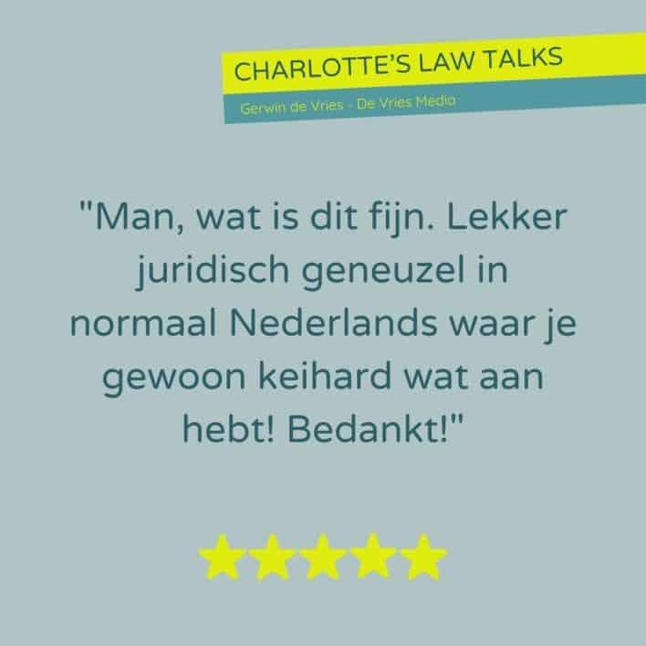 LAW TALKS januari recensie Gerwin de Vries