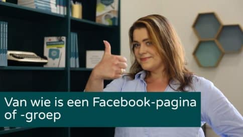Van wie is een Facebookpagina?
