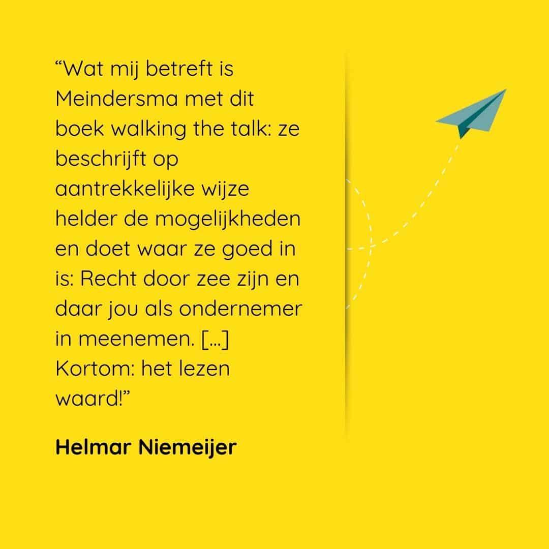 Écht ondernemen recensie Helmar Niemijer