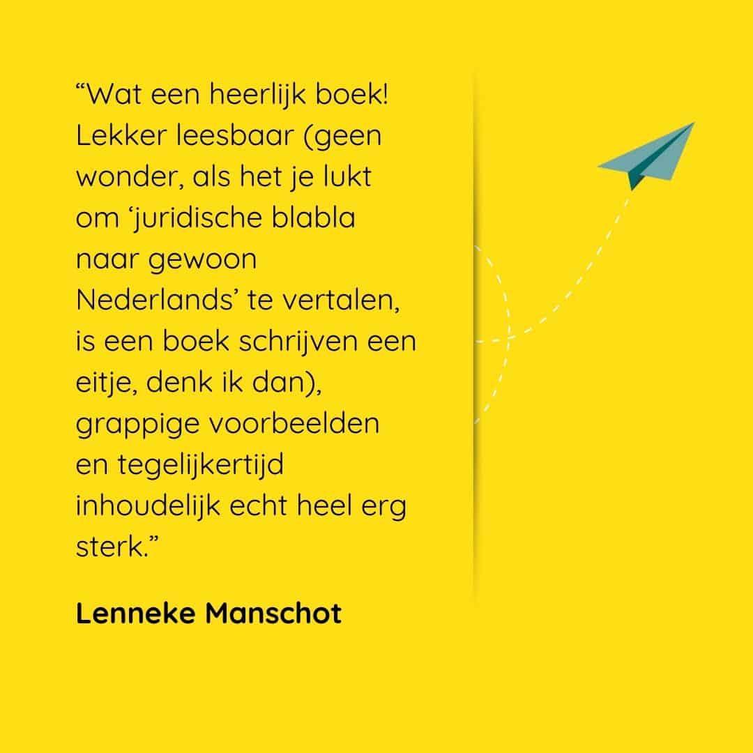 Écht ondernemen recensie Lenneke Manschot