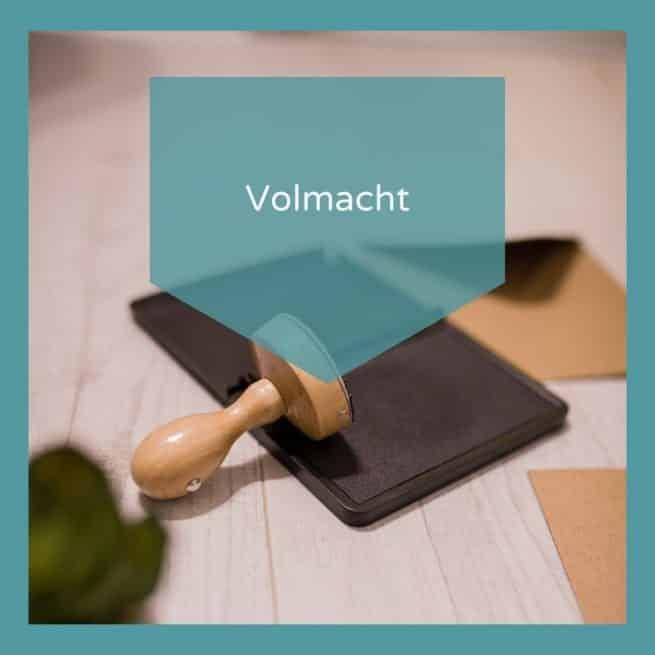 Volmacht model